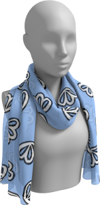The Paula Long Scarf in Periwinkle