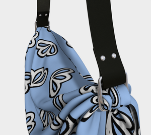 The Paula Origami Bag in Periwinkle-Clash Patterns