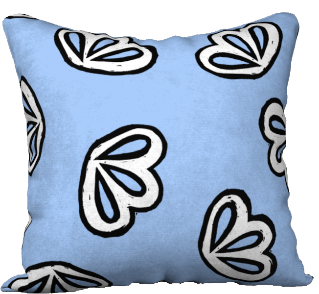 The Paula Reversible Pillow in Periwinkle