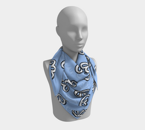 The Paula Square Scarf in Periwinkle