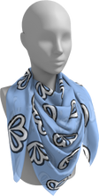 Load image into Gallery viewer, The Paula Square Scarf in Periwinkle