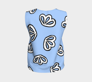 The Paula Tank Top in Periwinkle-Clash Patterns