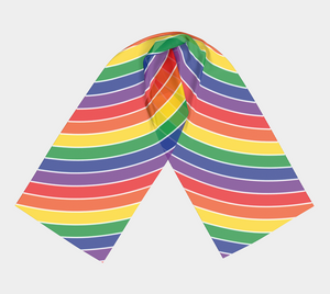 The Rainbow Long Scarf-Clash Patterns