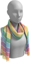 Load image into Gallery viewer, The Rainbow Long Scarf in Pastel