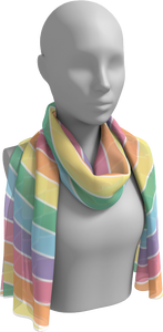The Rainbow Long Scarf in Pastel