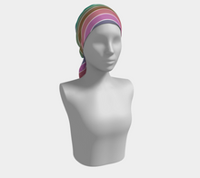 Load image into Gallery viewer, The Rainbow Long Scarf in Pink and Green