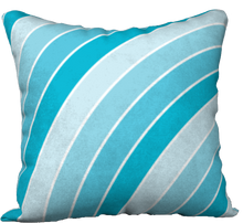 Load image into Gallery viewer, The Rainbow Pillow in Blue