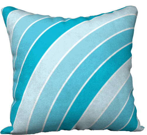 The Rainbow Pillow in Blue-18
