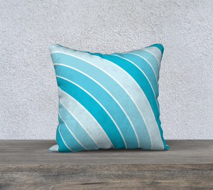 The Rainbow Pillow in Blue-Clash Patterns