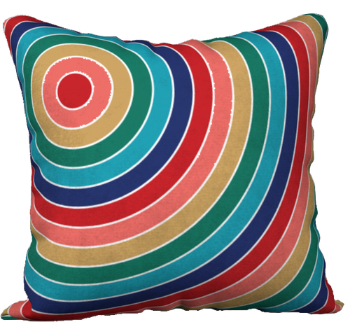 The Rainbow Pillow in Jewel Tones-18