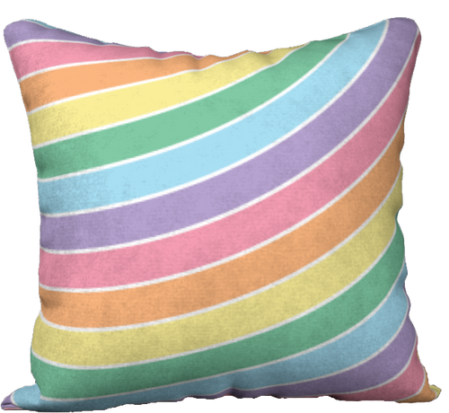 The Rainbow Pillow in Pastels-18