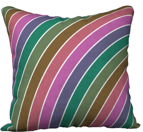 The Rainbow Pillow in Pinks and Greens-18