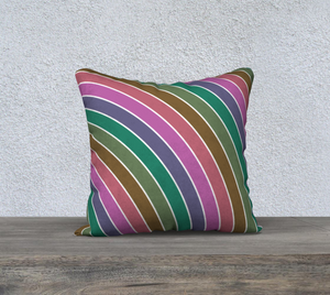 The Rainbow Pillow in Pinks and Greens-Clash Patterns