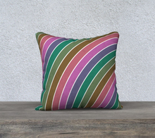 Load image into Gallery viewer, The Rainbow Pillow in Pinks and Greens-Clash Patterns