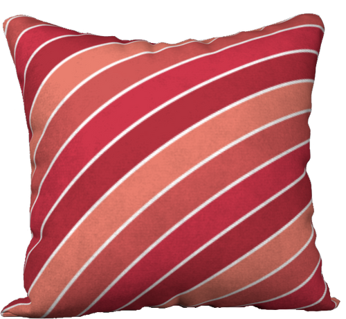 The Rainbow Pillow in Reds-18