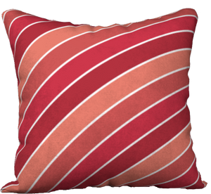 The Rainbow Pillow in Reds