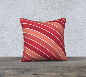 The Rainbow Pillow in Reds-Clash Patterns