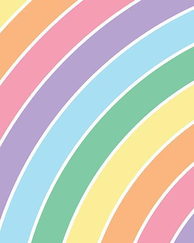 The Rainbow Print-at-Home Art Print in Pastels - Digital Download-Clash Patterns