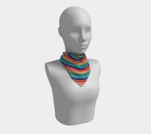 Load image into Gallery viewer, The Rainbow Square Scarf in Jewel Tones-Clash Patterns