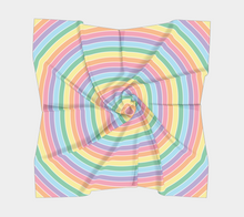 Load image into Gallery viewer, The Rainbow Square Scarf in Pastel