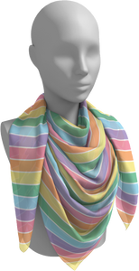 The Rainbow Square Scarf in Pastel