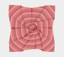 Load image into Gallery viewer, The Rainbow Square Scarf in Red