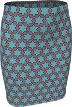 Load image into Gallery viewer, The Rita Fitted Skirt in Blue and Purple