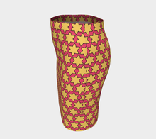 Load image into Gallery viewer, The Rita Fitted Skirt in Pink and Yellow-Clash Patterns