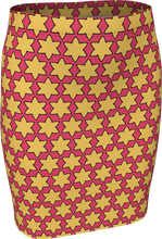Load image into Gallery viewer, The Rita Fitted Skirt in Pink and Yellow
