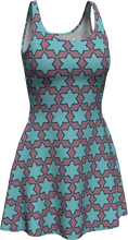 Load image into Gallery viewer, The Rita Flare Dress in Blue and Purple