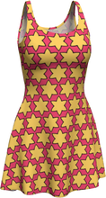 Load image into Gallery viewer, The Rita Flare Dress in Pink and Yellow