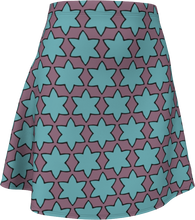 Load image into Gallery viewer, The Rita Flare Skirt in Blue and Purple
