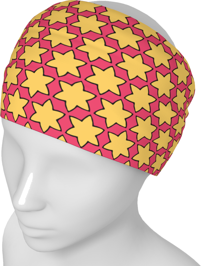 The Rita Headband in Pink and Yellow