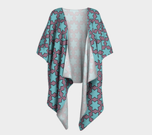 Load image into Gallery viewer, The Rita Kimono in Blue and Purple-Clash Patterns