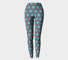 Load image into Gallery viewer, The Rita Leggings in Blue and Purple-Clash Patterns
