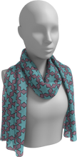 Load image into Gallery viewer, The Rita Long Scarf in Blue and Purple