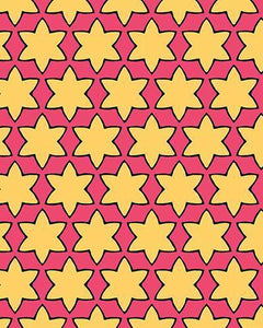 The Rita Print-at-Home Art Print in Pink and Yellow - Digital Download-Clash Patterns