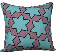 Load image into Gallery viewer, The Rita Reversible Pillow in Blue and Purple