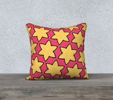 Load image into Gallery viewer, The Rita Reversible Pillow in Pink and Yellow-Clash Patterns