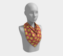 Load image into Gallery viewer, The Rita Square Scarf in Pink and Yellow
