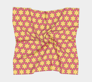 The Rita Square Scarf in Pink and Yellow