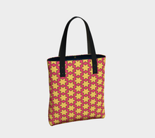 Load image into Gallery viewer, The Rita Tote Bag in Pink and Yellow-Clash Patterns