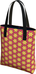 The Rita Tote Bag in Pink and Yellow