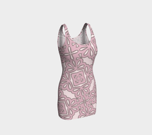 Load image into Gallery viewer, The Rose Fitted Dress in Rose-Clash Patterns
