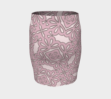 Load image into Gallery viewer, The Rose Fitted Skirt in Rose-Clash Patterns