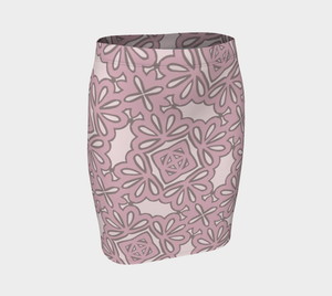 The Rose Fitted Skirt in Rose-Clash Patterns