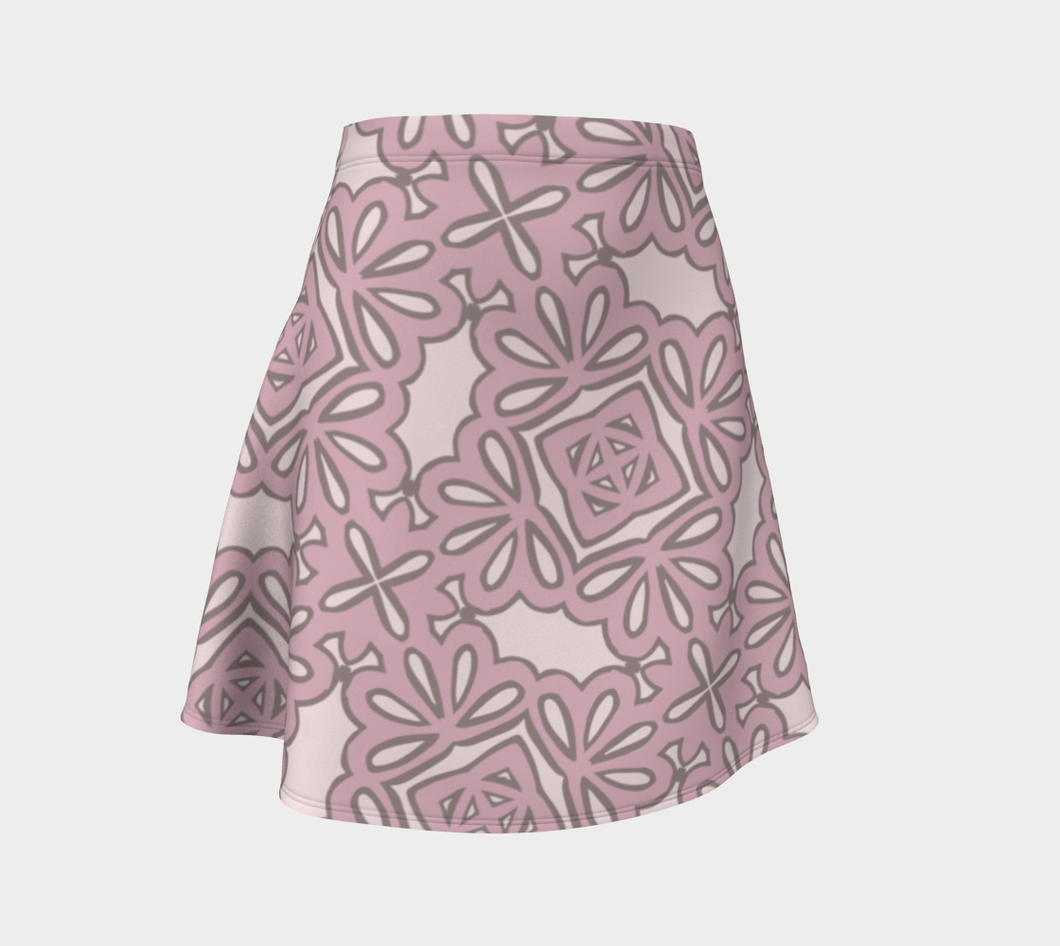 The Rose Flare Skirt in Rose-Clash Patterns