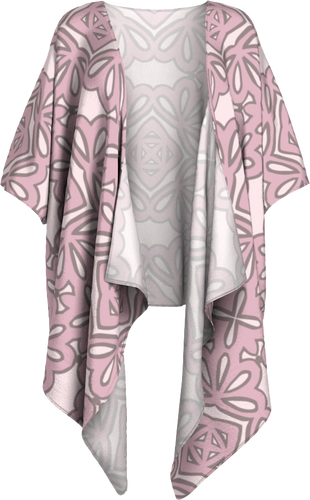 The Rose Kimono in Rose-Draped Kimono-Clash Patterns by Jennifer Akkermans