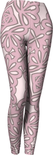 The Rose Leggings in Rose-Leggings-Clash Patterns by Jennifer Akkermans