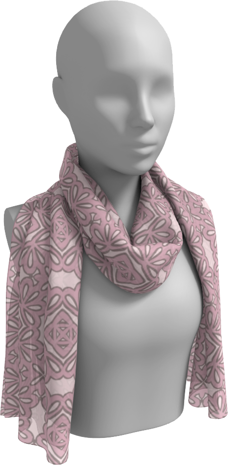 The Rose Long Scarf in Rose